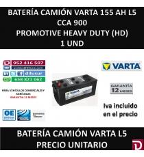 BATERIA CAMION VARTA 155 AH L5