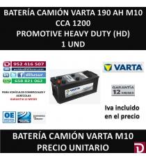 BATERIA CAMION VARTA 190 AH M10
