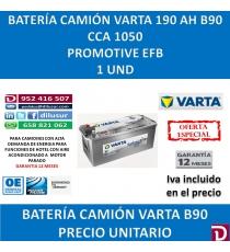 BATERIA CAMION VARTA 190 AH B90