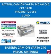 BATERIA CAMION VARTA 240 AH C40