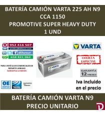 BATERIA CAMION VARTA 225 AH N9