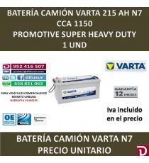 BATERIA CAMION VARTA 215 AH N7