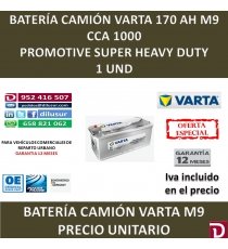BATERIA CAMION VARTA 170 AH M9