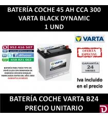 BATERIA COCHE VARTA 45 AH B24