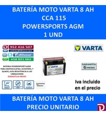 BATERIA MOTO   8 AH YT9B-4 YT9B-BS