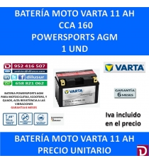 BATERIA MOTO 11 AH YT12A-4 YT12A-BS