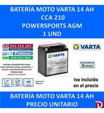BATERIA MOTO 14 AH YTX16-4-1 YTX16-BS-1