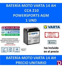 BATERIA MOTO 14 AH YTX16-4 YTX16-BS