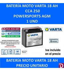 BATERIA MOTO 18 AH YTX20-4 YTX20-BS