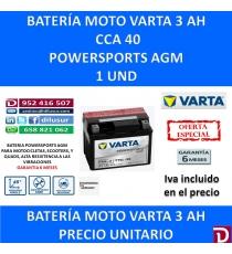 BATERIA MOTO 3 AH YT4L-BS YT4L-4