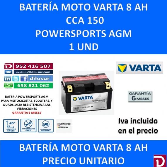 BATERIA MOTO 8 AH TTZ10S-BS TTZ10S-4