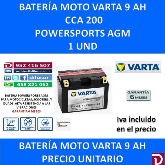 BATERIA MOTO 9 AH TTZ12S-BS TTZ12S-4