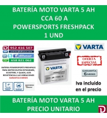 BATERIA MOTO 5 AH YB5L-B 12N5-3B