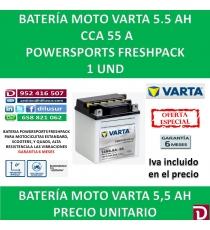 BATERIA MOTO 5.5 AH 12N5.5A-3B