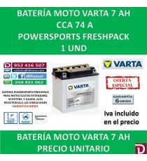 BATERIA MOTO 7 AH 12N7-4A