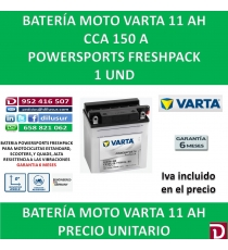 BATERIA MOTO 11 AH YB10L-B2 12N10-3B