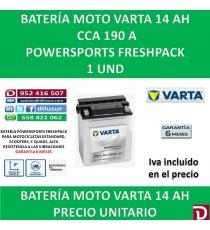 BATERIA MOTO 14 AH 12N14-3A YB14L-A2