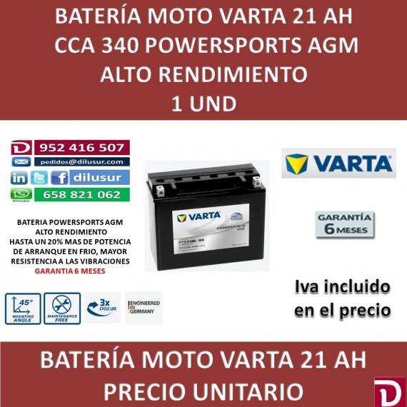 BATERIA MOTO 21 AH YTX24HL-BS