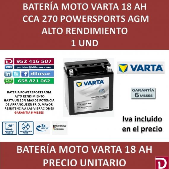 BATERIA MOTO 18 AH YTX20CH-BS