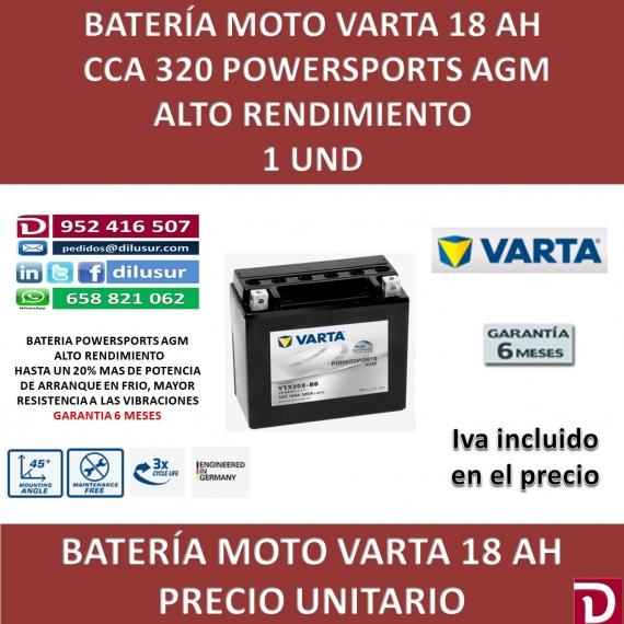BATERIA MOTO 18 AH YTX20H-BS