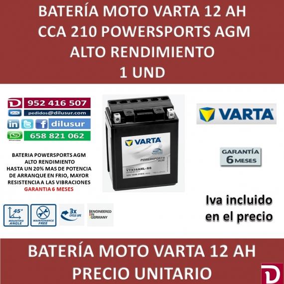 BATERIA MOTO 12 AH YTX14AHL-BS