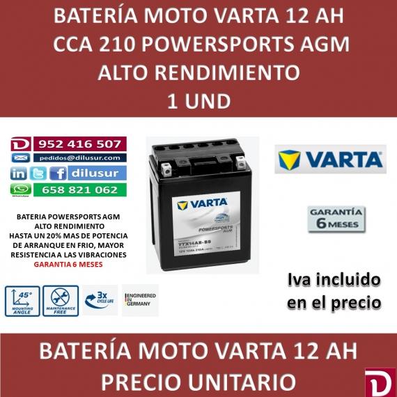 BATERIA MOTO 12 AH YTX14AH-BS
