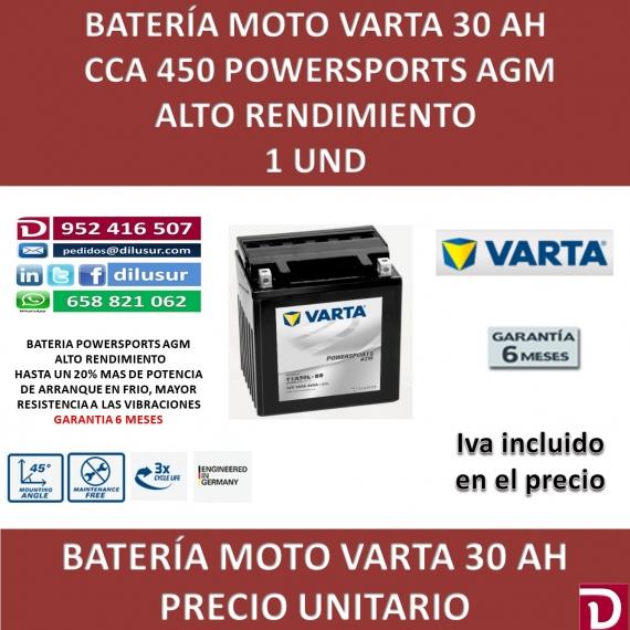 BATERIA MOTO 30 AH YTX30L-BS