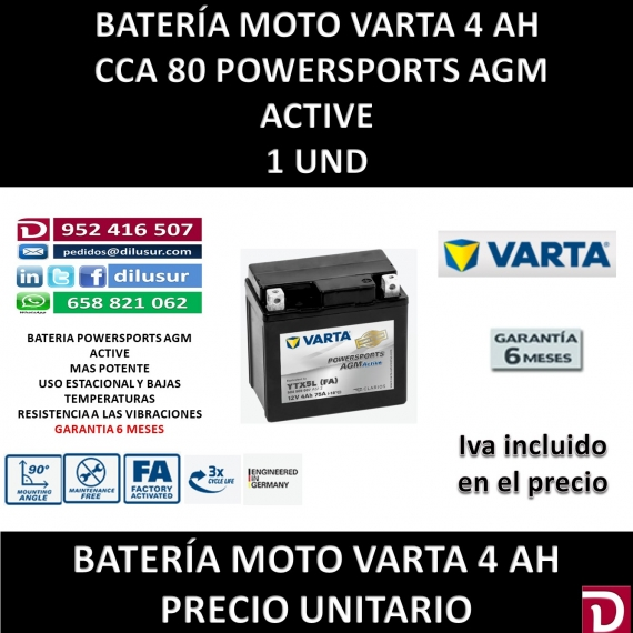 BATERIA MOTO 4 AH YTX5L (FA)