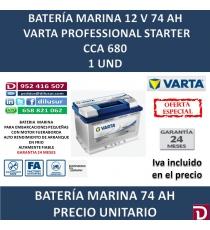 BATERIA MARINA VARTA 74 AH