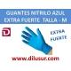 GUANTE NITRILO AZUL EXTRA F T-M 100 UNDS