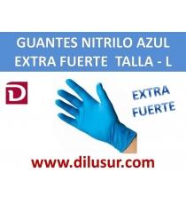 GUANTE NITRILO AZUL EXTRA F T-L 100 UNDS