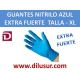 GUANTE NITRILO AZUL EXTRA F T-XL 100 UNDS