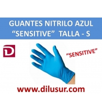 GUANTE NITRILO AZUL SENSITIVE  T-S 100 UNDS