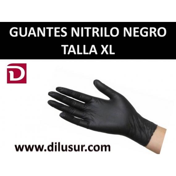GUANTE NITRILO T-XL NEGRO 100 UND