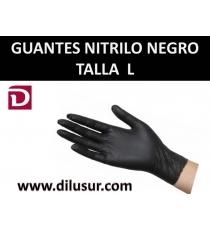 GUANTE NITRILO  T-L NEGRO 100 UND