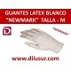 GUANTE LATEX NEW MARK  T-M 100 UNDS