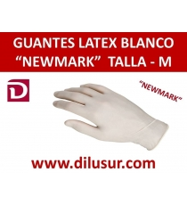 GUANTE LATEX NEW MARK  T-M 100 UNDS