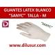 GUANTE LATEX   SANYC T-M 100 UND