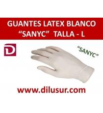 GUANTE LATEX  SANYC T-L 100 UND