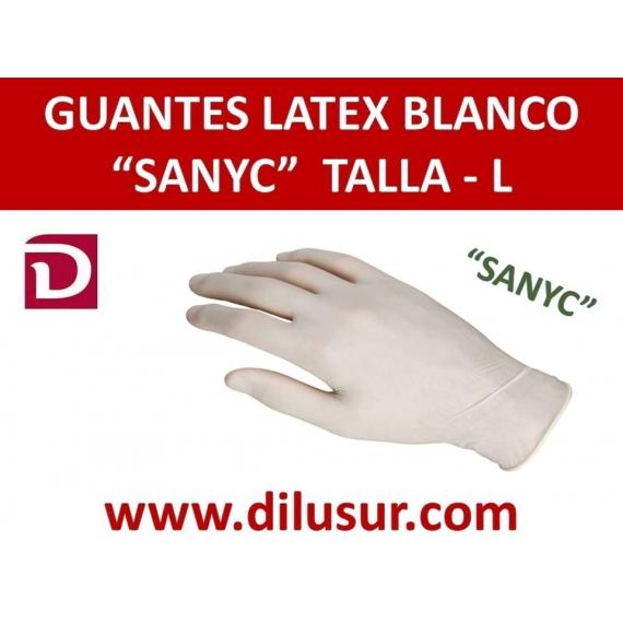 L/_GUANTE L/ÁTEX BLANCO SIN POLVO TALLA L