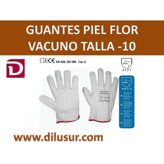 GUANTE PIEL TALLA-10 FLOR VACUNO  REFORZADO