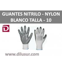 GUANTE NYLON BLANCO NITRILO GRIS T10