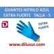 GUANTE NITRILO AZUL EXTRA F T-S 100 UNDS
