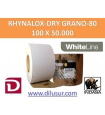 ROLLO LIJA GRANO  80 100X50 MTS RHYNALOX-DRY