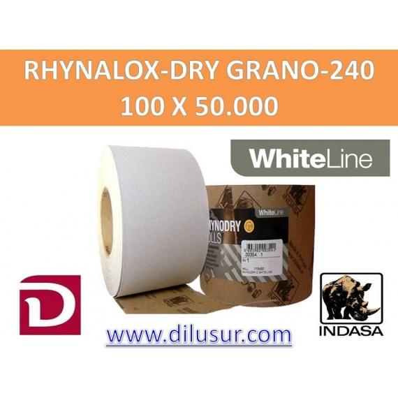 ROLLO LIJA GRANO 240 100X50 MTS RHYNALOX-DRY