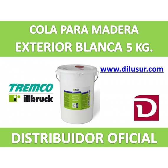 COLA BLANCA MADERA EXTERIOR D3, 5 KG. ILLBRUCK WD013