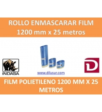 ROLLO DE ENMASCARAR FILM  1200 X 25 METROS