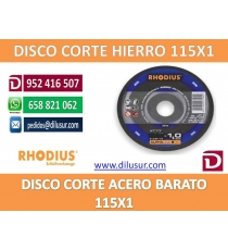DISCO DE CORTE XT77 115X1,0X22 RHODIUS