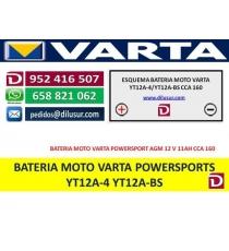 BATERIA YT12A-4 YT12A-BS
