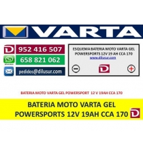 BATERIA GEL 12V 19AH